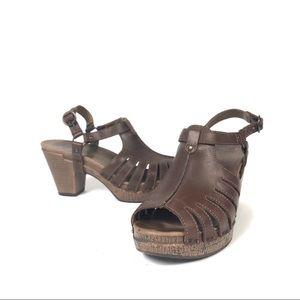 Dansko Randy Brandy Slingback heeled sandals